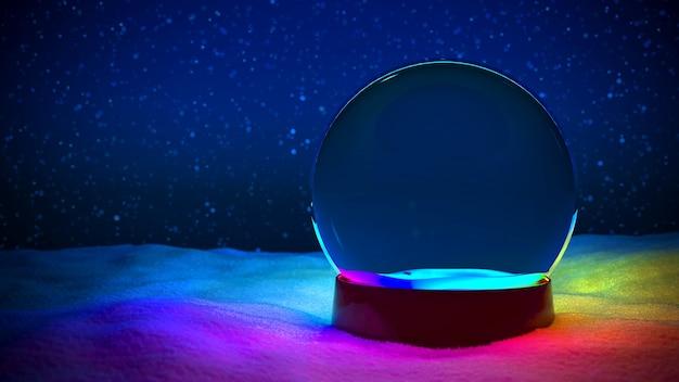 Snow globe christmas rgb lumière led sans arbre
