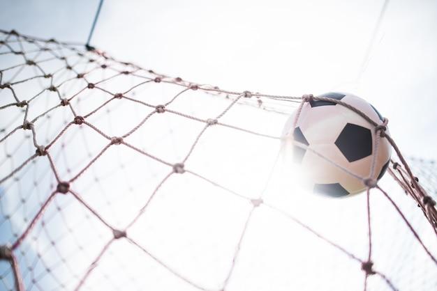 Soccer dans le concept de réussite de l'objectif