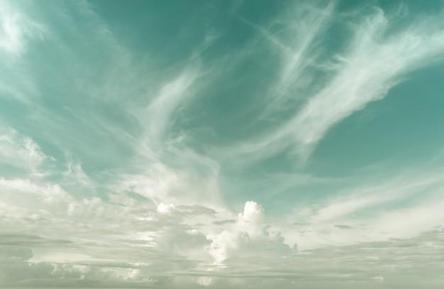 Soft & blur retro ciel et nuages