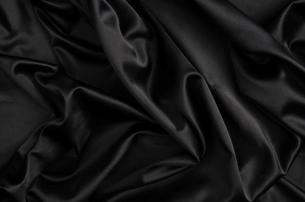 Soie noire fond noir