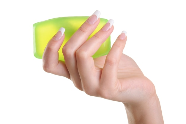 Soins de la peau pour les mains féminines