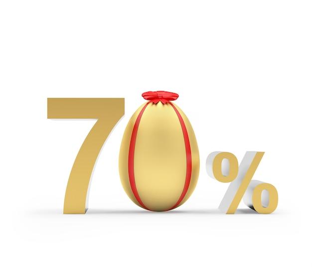 Soixante-dix pour cent de réduction avec l'oeuf de pâques doré