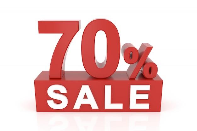 Soixante-dix pour cent de vente