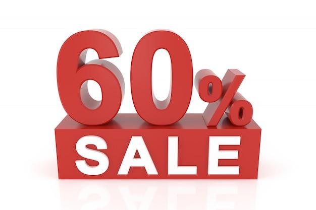 Soixante pour cent de vente