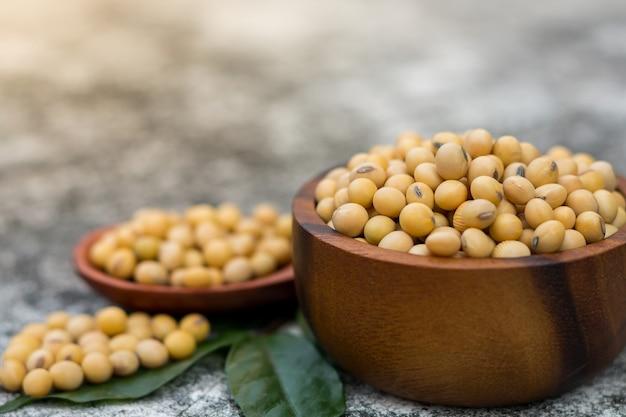 Le soja sain est riche en protéines et en vitamines.