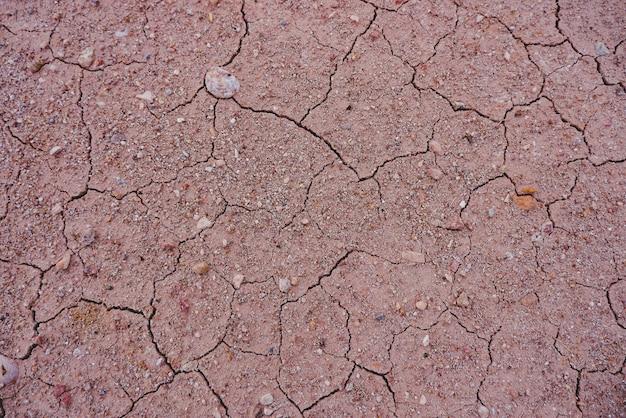 Sol aride par fond de sécheresse.