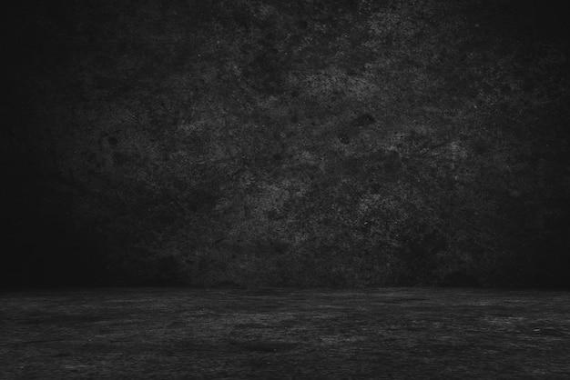 Sol en ciment et arrière-plans muraux, chambre noire, intérieur, produit d'affichage.