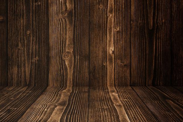 Sol et fond de bois sombre grunge. texture en bois. surface, fond d'écran, produit mis.