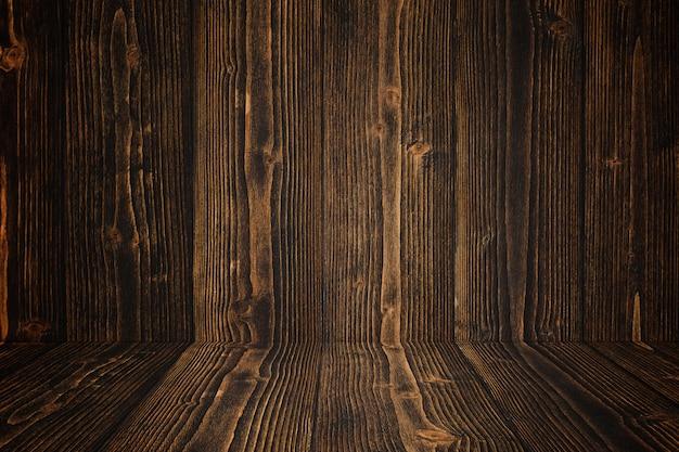 Sol et fond de bois sombre grunge. texture en bois. surface, fond d'écran
