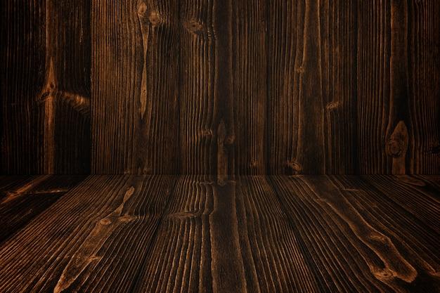 Sol et fond de bois sombre grunge. texture en bois.