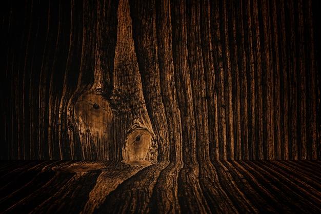 Sol et fond de bois sombre grunge