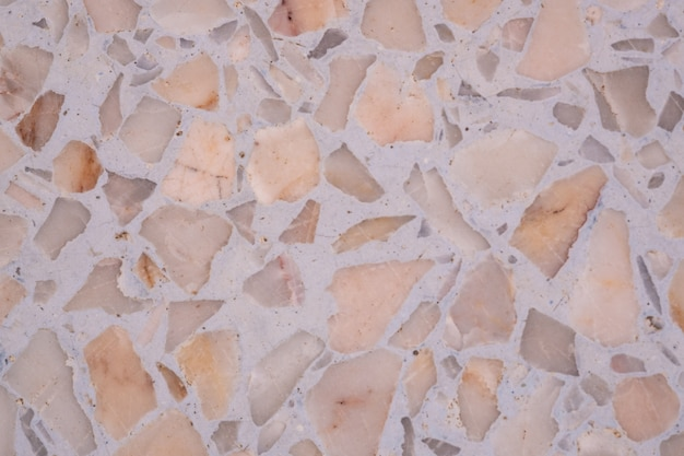Sol et mur en pierre polie terrazzo