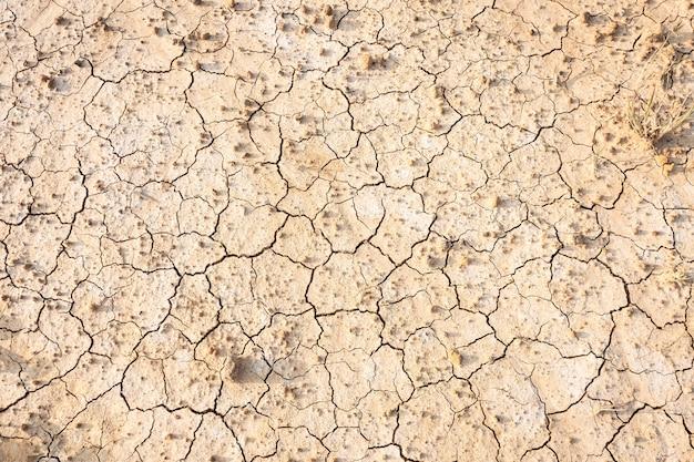 Sol sec brun ou fond de texture fissurée.