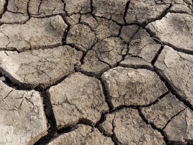 Sol sec craquelé. changement climatique, réchauffement climatique, sécheresse.