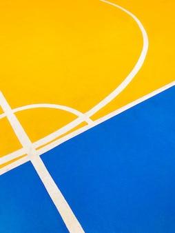 Sol de terrain de basket coloré