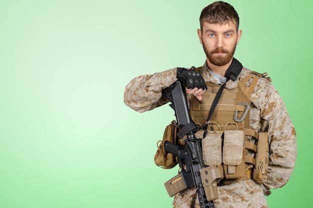 Soldat avec fusil