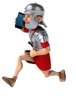 Soldat romain amusant - illustration 3d