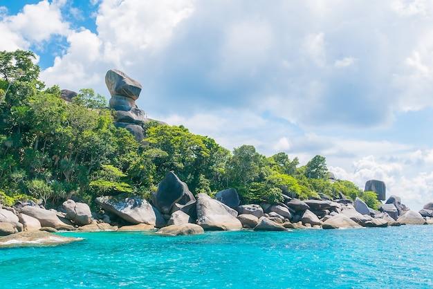 Soleil beau rivage île andaman