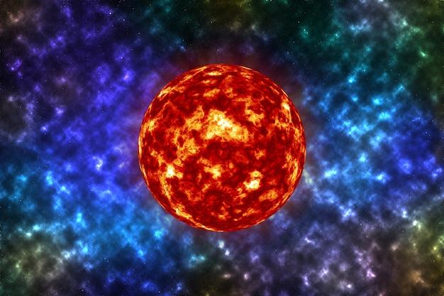 Soleil brillant dans l'espace