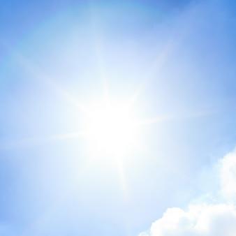 Soleil et ciel bleu