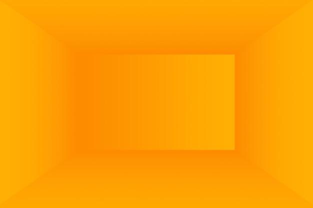 Solide abstrait de fond de salle de mur de studio dégradé jaune brillant