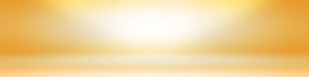 Solide abstrait de fond de salle de mur de studio dégradé jaune brillant.