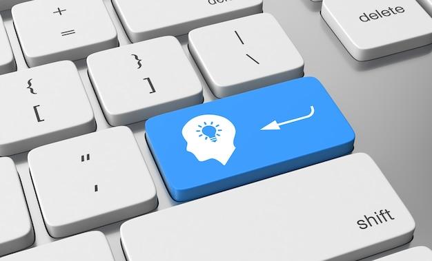 Solution sur le bouton du clavier