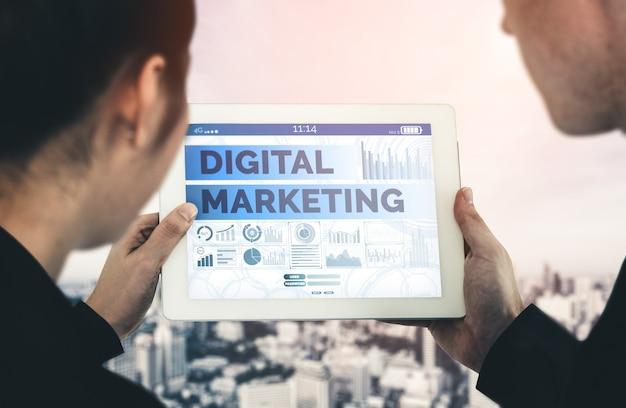 Solution de technologie de marketing numérique pour le concept d'entreprise en ligne