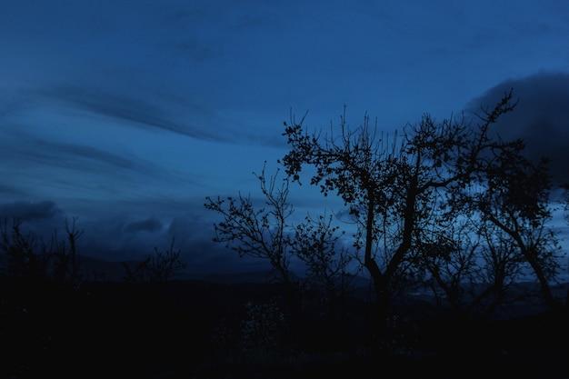 Sombre coucher de soleil