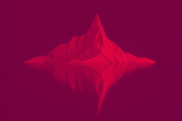 Sommets de montagnes abstraites avec réflexion