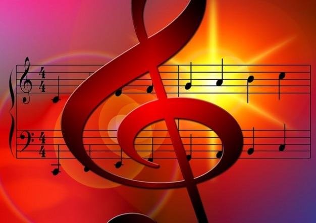 Sonne sonore de musique clé de sol notenblatt