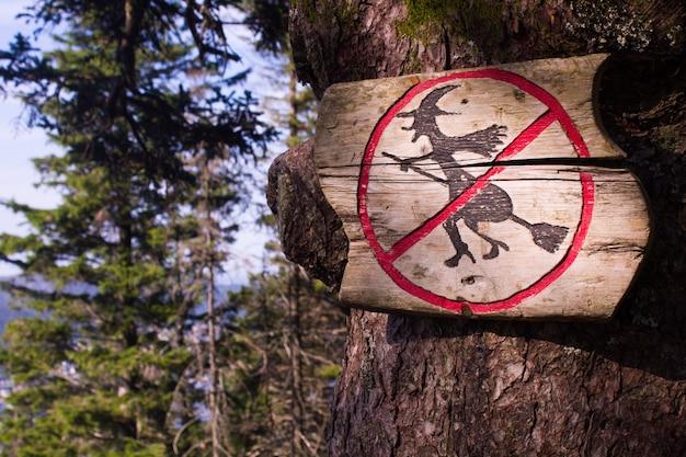 Sorcières interdites à bergen, norvège.