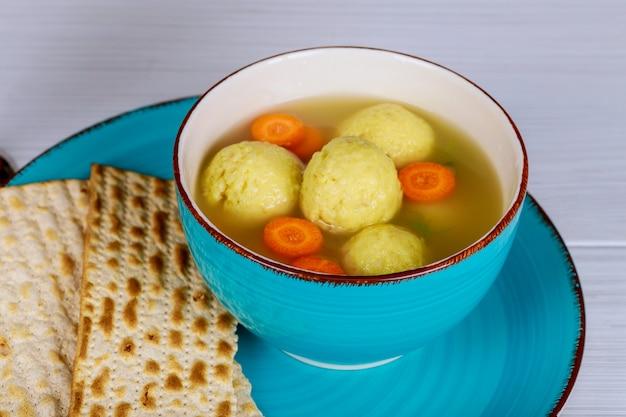 Soupe aux boules de matza pâque pâque juive