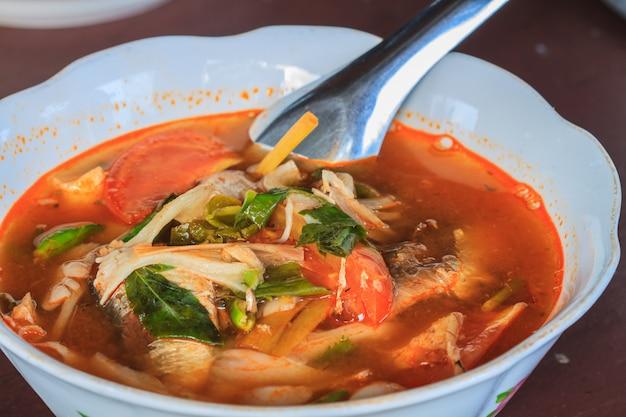 Soupe épicée aux champignons