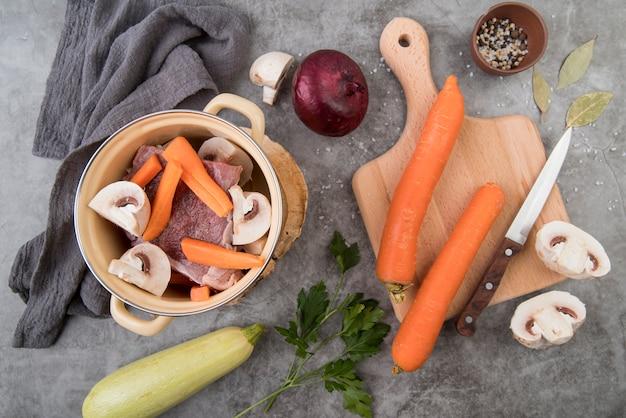 Soupe de légumes frais maison