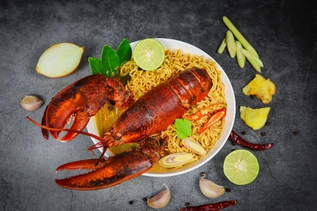 Soupe de nouilles au homard