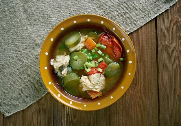 Soupe de poisson russe solyanka - ural kalja