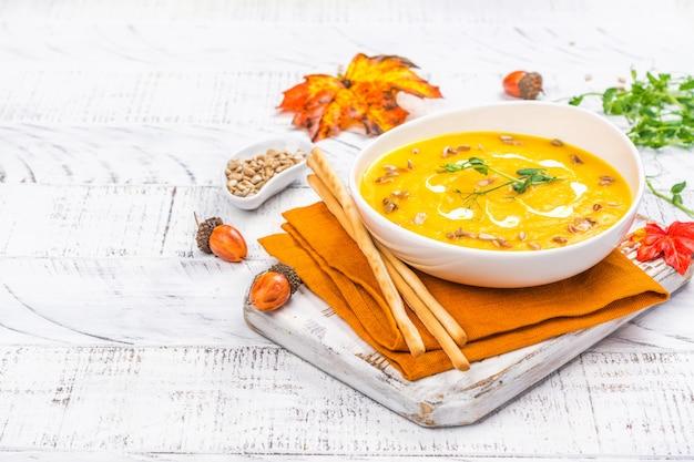 Soupe de potiron sur fond d'automne