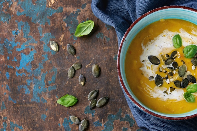 Soupe de potiron et patate douce