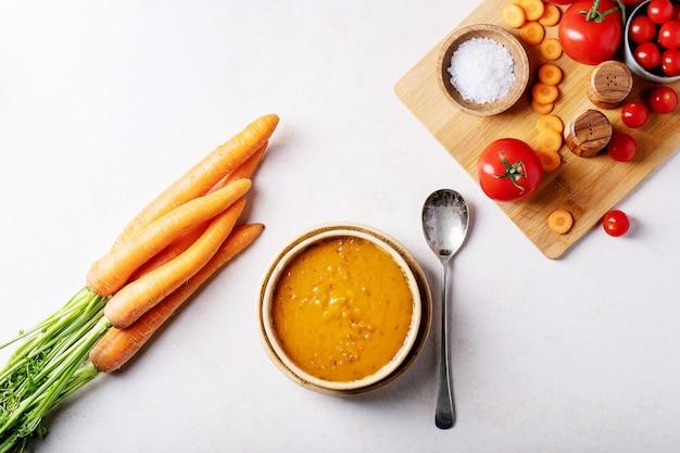 Soupe de purée de carottes