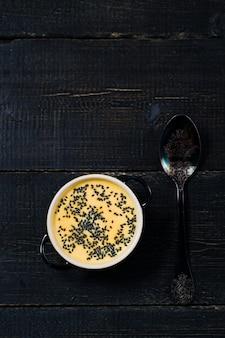 Soupe purée de potiron aux graines
