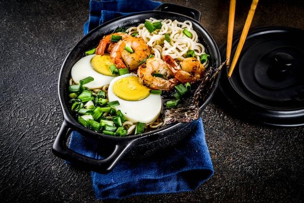 Soupe de ramen aux crevettes