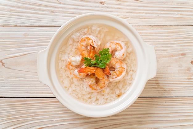 Soupe de riz bouilli aux crevettes