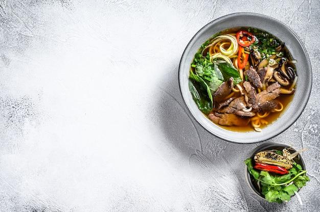 Soupe vietnamienne pho bo au boeuf