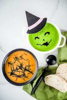 Soupes de fête d'halloween