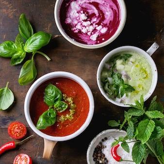 Soupes végétariennes froides