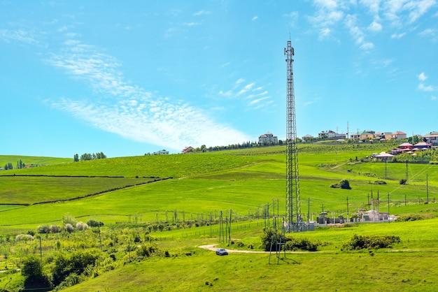 Source de rayonnement de la tour cellulaire 5g