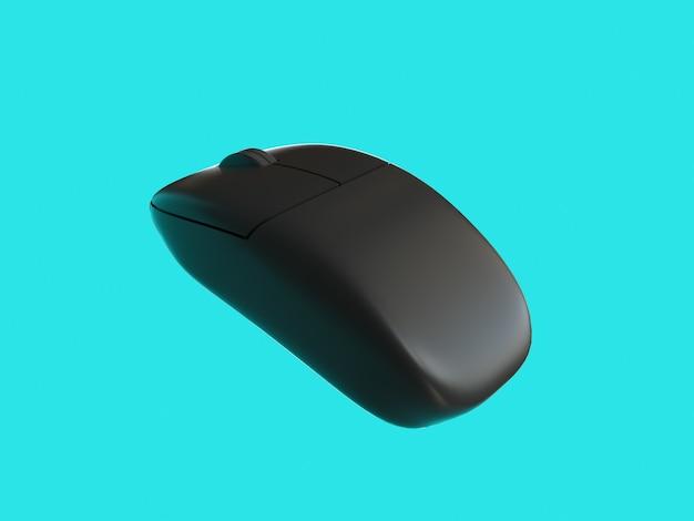Souris d'ordinateur sans fil de rendu 3d