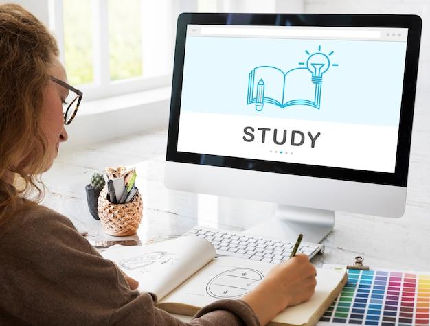 Soyez créatif e-learning innovation education knowledge concept