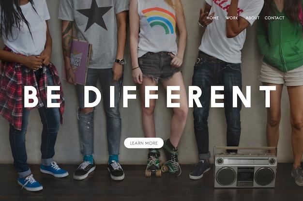 Soyez différent de la page de destination